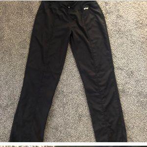 Black active scrub pants